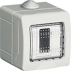Caja intemperie 1 módulo Gris