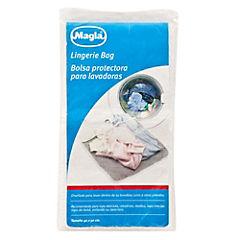 Malla de lavado para ropa delicada 40x50 cm tela blanco