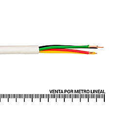Cable telefónico 2 pares 24 AWG metro lineal Blanco