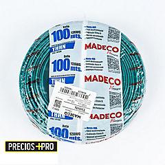 Cable eléctrico 12 AWG 100 m Verde