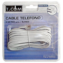Cable telefónico plano 5 mts.