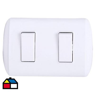 Circuito Electrico Simple Con Interruptor : Interruptor doble 9 15 10 a blanco bticino 742171