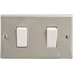 Interruptor doble (9/15) 10 A Gris