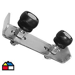 Polín guía para portón doble 35mm