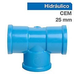 Set tee PVC para cementar 25x25 mm 10 unidades