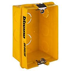 Caja de distribución embutida 106x71 mm PVC