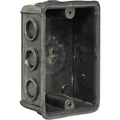 Caja de distribución rectangular embutida PVC