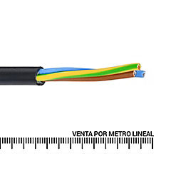 Cordón 4x2,5 mm2 metro lineal Negro