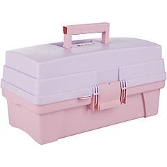 Caja organizadora portátil 14 litros 36x21x18 cm rosado