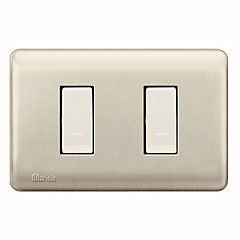 Interruptor doble (9/15) 16 A Beige