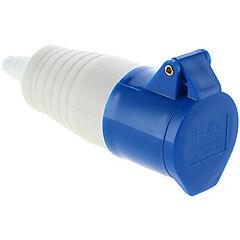 Tomacorriente volante 2p+t 16 A Azul
