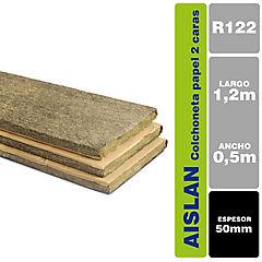 0.5x1.2 m 50mm Lana mineral colchonetas 2 caras revestidas papel kraft
