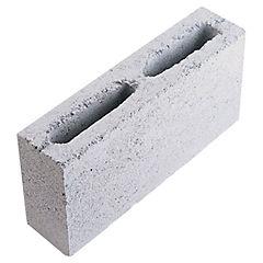 90x190x390 mm Bloque Cemento Económico Liso Gris