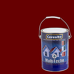 Pintura para techo a base de agua satinado 1 gl Rojo colonial