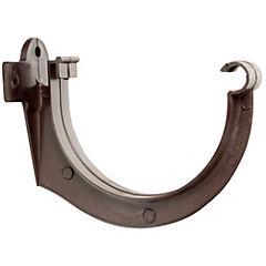 Gancho fijación canaleta PVC marrón