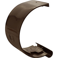 Unión canaleta PVC marrón