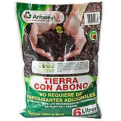 Tierra con abono para jardín 4 kg bolsa