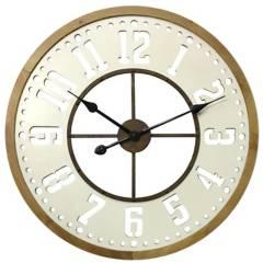 HOMY - Reloj muro 59 cm dorado/blanco