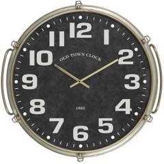 HOMY - Reloj old town 60x63 cm negro