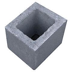 140x190x190 mm Medio Bloque Cemento Liso Gris