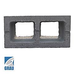 190x190x190 mm Medio Bloque Cemento Liso Gris