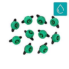 Set de goteros botón plástico 10 unidades