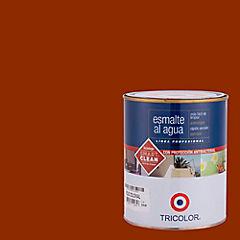 Esmalte al agua satinado 1/4 gl rojo colonial