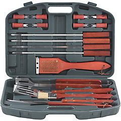 Kit de herramientas para asado 18 piezas con maleta