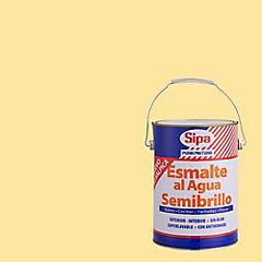 Esmalte al agua semibrillante 1 gl crema