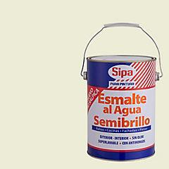 Esmalte al agua semibrillante 1 gl blanco hueso