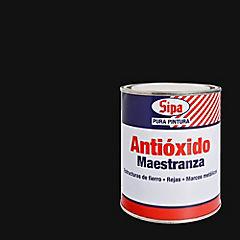 Pintura antióxido opaco 1/4 gl Negro