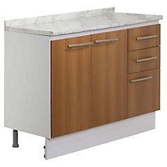 Mueble base 105x85x49 cm melamina canela