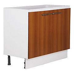 Mueble base 100x85x47 cm melamina canela