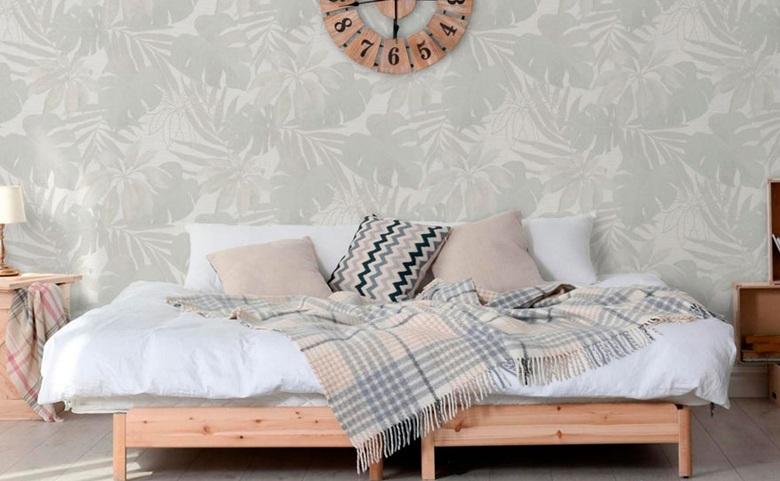 El papel mural es tendencia: Aplícalo en tu dormitorio