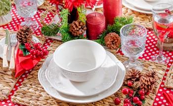 Una mesa encantadora para Navidad