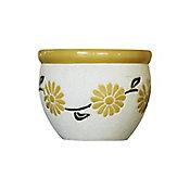 Maceta diseño flor 23 x 16 cm Amarillo
