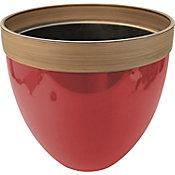 Maceta plástico glaseado rojo 36x33 cm