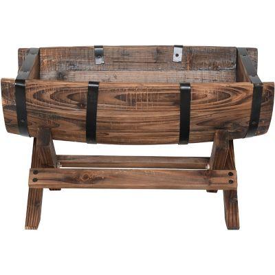 Jardinera ovalada de madera