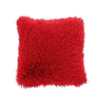 Cojín Shaggy Abundance rojo 43x43 cm