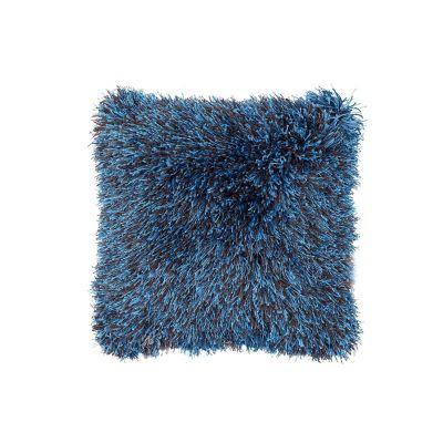 Cojín Shaggy Abundance azul 43x43 cm