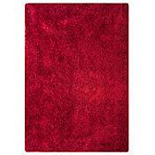 Pie de cama shaggy rojo 60x114 cm