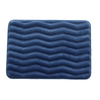 Tapete de baño Zigzag azul 43x61 cm