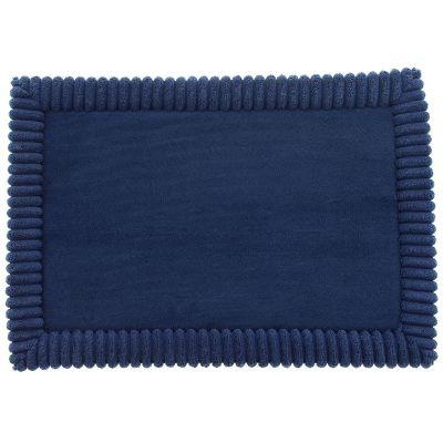 Tapete de baño Borde2 azul 43x61 cm