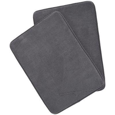 Set 2 tapetes de baño foam gris 43x61 cm