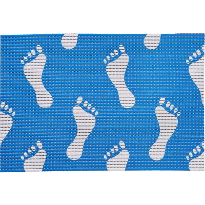Tapete antiderrapante Pies azul 65x150 cm