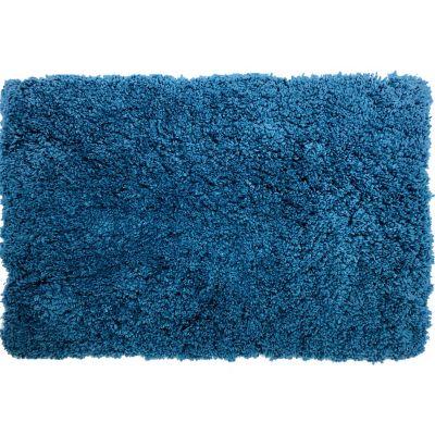 Tapete de baño peludo azul 50x 80 cm