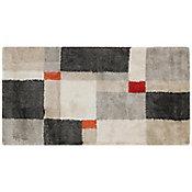 Tapete Umbria gris/rojo 60x115 cm