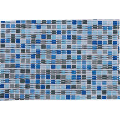 Tapete antiderrapante azul 65x150 cm