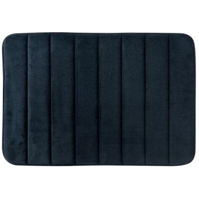 Tapete de baño Foam rayas negro 40x60 cm