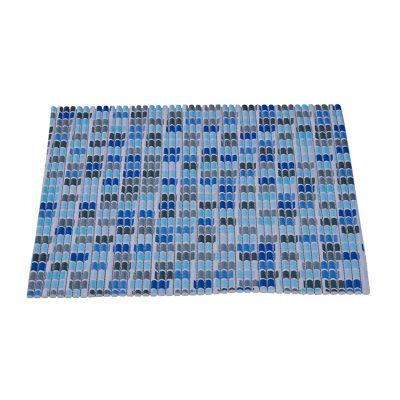 Tapete antiderrapante azul 40x60 cm